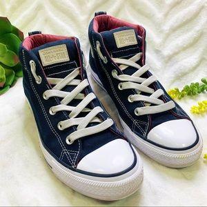 Chuck Taylor Street Mid Sneakers Black Unisex 8.5
